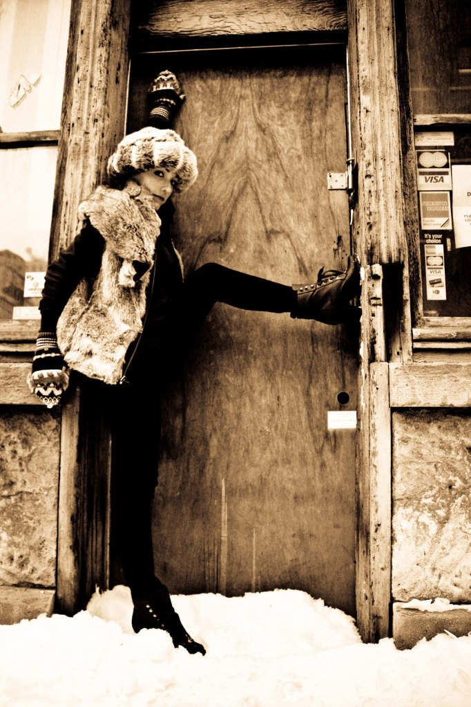 girl in doorway