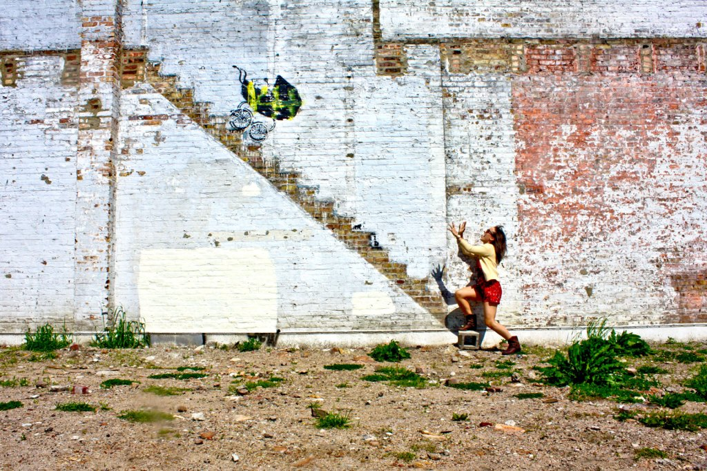 Banksy graffiti in Chicago